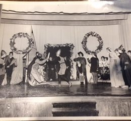 This photo, believed to date from 1935, shows Revels performers in action.  Many of the elements of this beloved tradition have been present for almost a century.