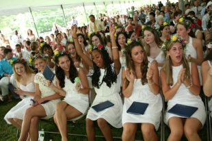 A glimpse of Dana Hall School's graduation in June, 2008. Even though it may look the same next year, it definitely won't feel the same with the earlier date!