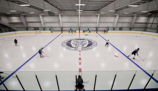 Dana Hall's ice hockey team: Home at last
